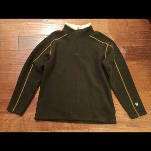 Men's KUHL brown Alfpaca Fleece pullover Sz XL